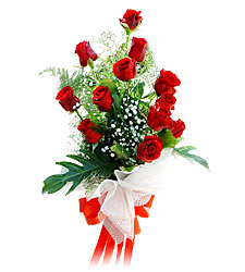 11 adet kirmizi güllerden görsel sölen buket  Tokat İnternetten çiçek siparişi