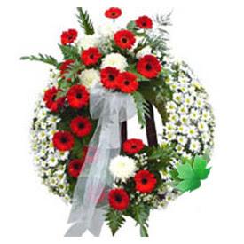 Cenaze çelengi cenaze çiçek modeli  Tokat çiçekçi telefonları