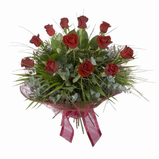 Etkileyici buket 11 adet kirmizi gül buketi  Tokat yurtiçi ve yurtdışı çiçek siparişi