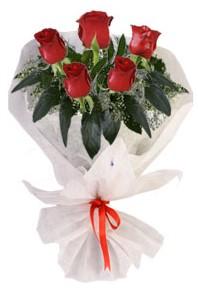 5 adet kirmizi gül buketi  Tokat online çiçekçi , çiçek siparişi