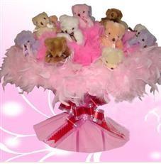 11 adet pelus ayicik buketi  Tokat hediye sevgilime hediye çiçek