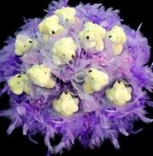 11 adet pelus ayicik buketi  Tokat çiçek online çiçek siparişi