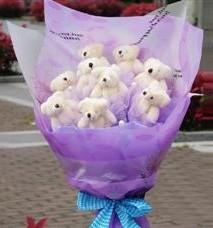 11 adet pelus ayicik buketi  Tokat çiçek servisi , çiçekçi adresleri