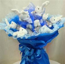 7 adet pelus ayicik buketi  Tokat çiçek online çiçek siparişi