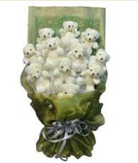 11 adet pelus ayicik buketi  Tokat çiçek gönderme sitemiz güvenlidir