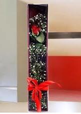 kutu içinde tek kirmizi gül  Tokat hediye çiçek yolla