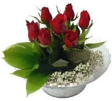 Tokat yurtiçi ve yurtdışı çiçek siparişi  cam yada mika içerisinde 5 adet kirmizi gül