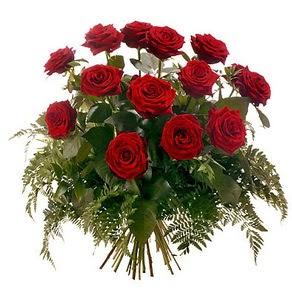 Tokat yurtiçi ve yurtdışı çiçek siparişi  15 adet kırmızı gülden buket