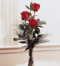 Tokat yurtiçi ve yurtdışı çiçek siparişi  Vazoda 3 adet güzel gül