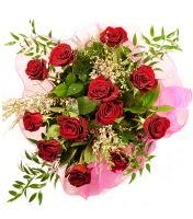 12 adet kırmızı gül buketi  Tokat çiçek satışı