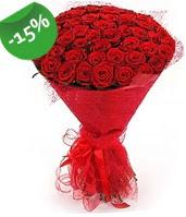 51 adet kırmızı gül buketi özel hissedenlere  Tokat güvenli kaliteli hızlı çiçek