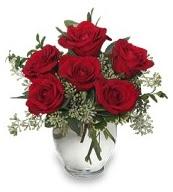 Vazo içerisinde 5 adet kırmızı gül  Tokat kaliteli taze ve ucuz çiçekler