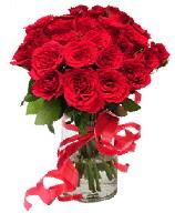 21 adet vazo içerisinde kırmızı gül  Tokat hediye sevgilime hediye çiçek