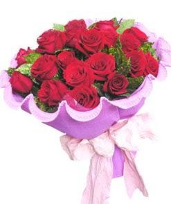 12 adet kırmızı gülden görsel buket  Tokat kaliteli taze ve ucuz çiçekler