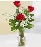 Vazo içerisinde 3 adet kırmızı gül  Tokat hediye sevgilime hediye çiçek