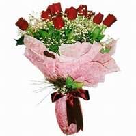 Tokat güvenli kaliteli hızlı çiçek  12 adet kirmizi kalite gül