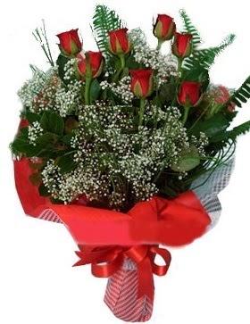 7 kırmızı gül buketi  Tokat çiçekçi mağazası