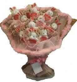 12 adet tavşan buketi  Tokat çiçek siparişi sitesi