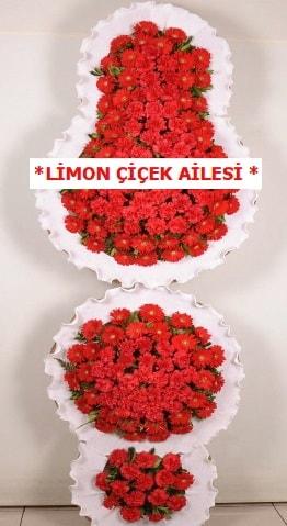 3 katlı kırmızı düğün açılış çiçeği  Tokat 14 şubat sevgililer günü çiçek