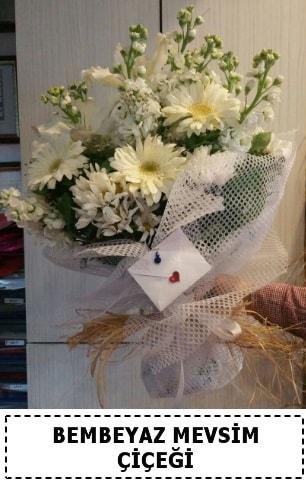 Bembeyaz görsel mevsim çiçek buketi  Tokat uluslararası çiçek gönderme