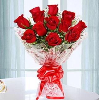 11 adet kırmızı gülden görsel şık buket  Tokat çiçek servisi , çiçekçi adresleri