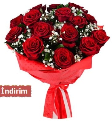 12 Adet kırmızı aşk gülleri  Tokat hediye sevgilime hediye çiçek