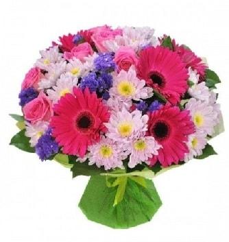 Karışık mevsim buketi mevsimsel buket  Tokat hediye sevgilime hediye çiçek