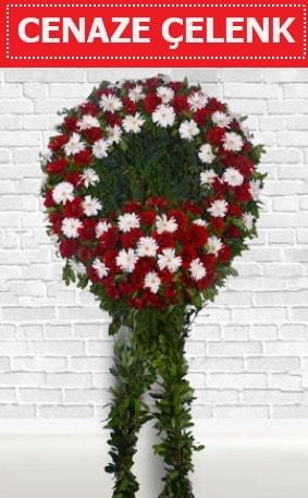 Kırmızı Beyaz Çelenk Cenaze çiçeği  Tokat cicek , cicekci