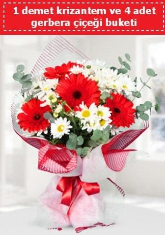 Krizantem ve Gerbera Buketi  Tokat güvenli kaliteli hızlı çiçek