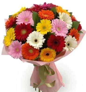 Karışık büyük boy gerbera çiçek buketi  Tokat hediye sevgilime hediye çiçek